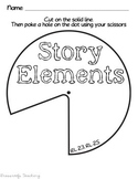 Story Elements Spinner for Interactive Notebook