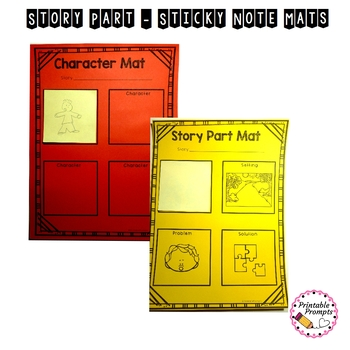 Story Elements- Sticky Note Story Parts