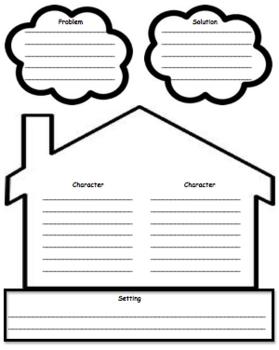 Story Elements Story Map: ELA graphic organizer