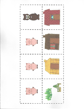 Story Elements / Story Map - The Three Little Pigs