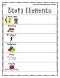 Story Elements Student Response sheet