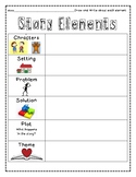 Story Elements Student Response sheet