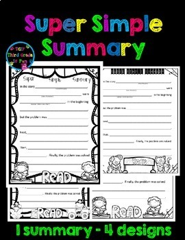 Story Elements Super Simple Summary
