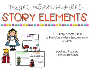 Story Elements Target Adhesive Labels