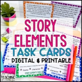 Story Elements Task Cards | Distance Learning | Google Classroom