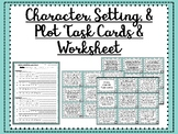 Story Elements Task Cards & Worksheet