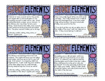 Story Elements Task Cards and Story Elements Board Game
