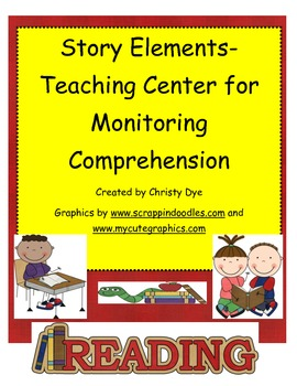 Story Elements- Teaching Cards Center for Monitoring Comprhension