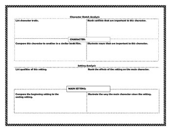 Story Elements Templates