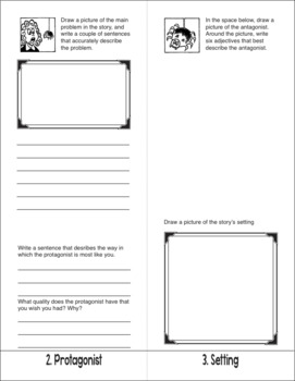 Story Elements—The Language Arts Flip Book Series—Book Report Activity