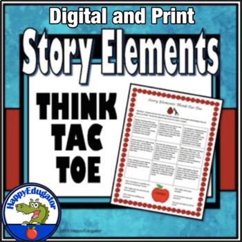 Story Elements Think-Tac-Toe - Menu Choice Board