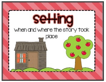 Story Elements - Three Little Pigs Themed Anchor Charts
