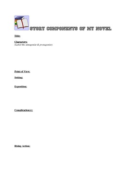 Story Elements - Components of a Story Worksheet Packet
