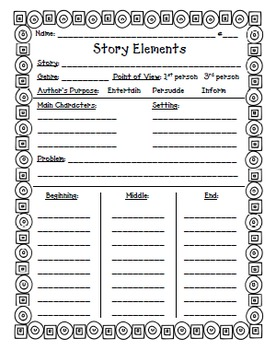 Story Elements---Use with any story!