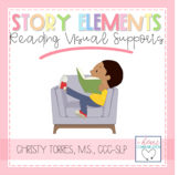 Visual Supports - Reading Story Elements for Autism or Special ED. Class