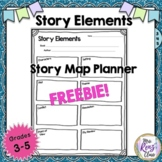 Story Elements Story Map FREEBIE