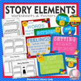 Story Elements Worksheets and Activities BRICK in LEGO Style Theme