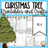 Story Elements and Main Topic Christmas Tree Craftivities for K-1