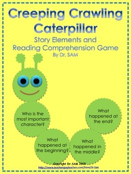 """Story Elements and Reading Comprehension Game """"Creeping Crawling Caterpillar"""""""