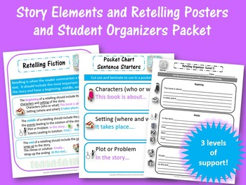 Story Elements and Retelling Packet