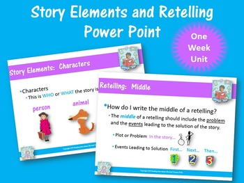 Story Elements and Retelling Power Point