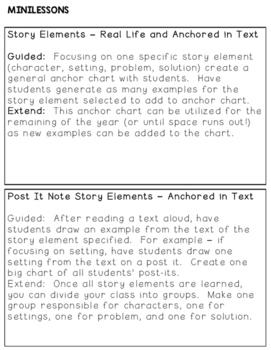 Story Elements and Retelling: RL.K.2 RL.K.3
