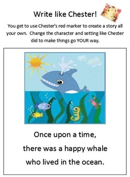 Story Elements and Writing Using Chester by Melanie Watt