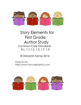 Story Elements for First Grade Author Study