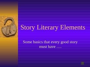 Story Elements for Grades 3 through 5