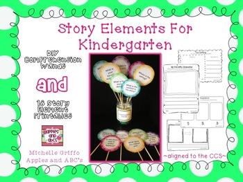 Story Elements for Kindergarten: Printables and Comprehension Wands