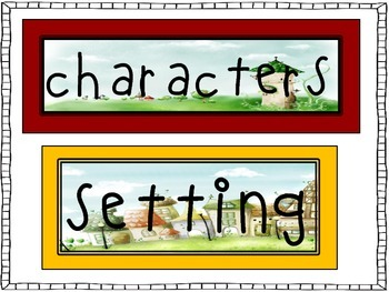 Story Elements pocket chart cards