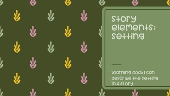 Story Elements: the Setting