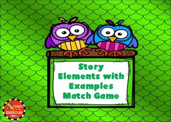 Story Elements with Examples Boom Cards