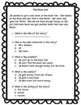 Story Elements/Problem/Solution test