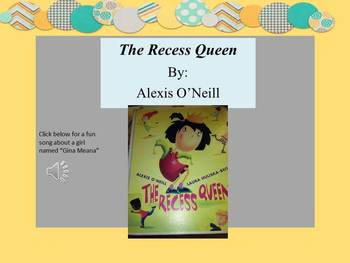 Literature Extension Activities for the book The Recess Queen