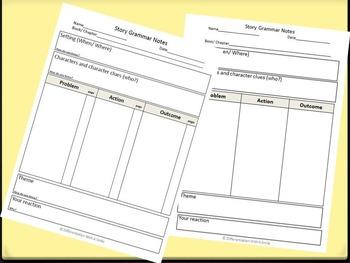 Story Grammar Worksheets