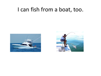 Story I like to Fish for Core Vocabulary
