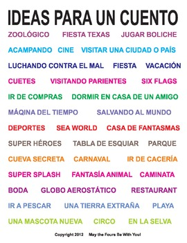 Story Ideas for Kids in Spanish