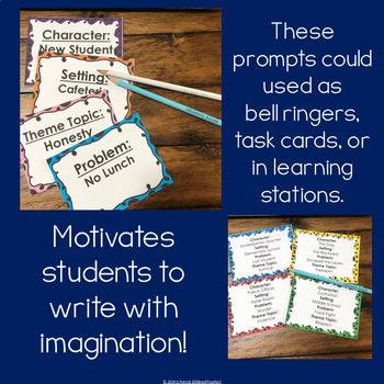 Story Jumble Task Card Writing Prompts