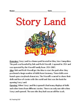 Story Land - New Hampshire lesson review article history facts information