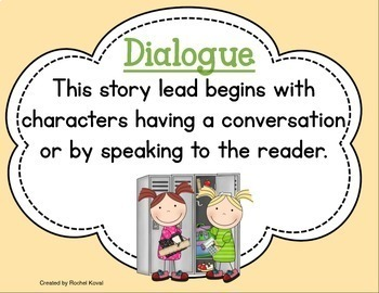 Story Leads (7 ways to begin a story)