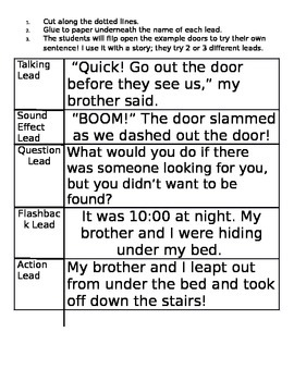 Story Leads Interactive Note