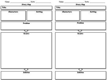 Story Map (2 per page) or Story Comparison - Graphic Organizer - King Virtue