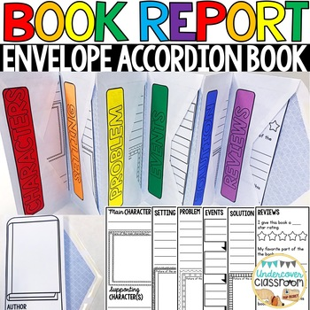 Book Report Project | Envelope Accordion Book | Story Elements