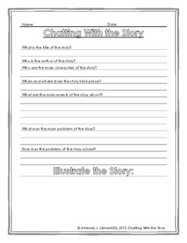 Story Map Activity Worksheet