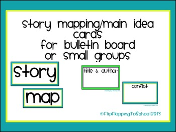 Story Map Bulletin Board Pieces