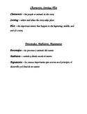 Story Map & Character/Setting/Plots study guide (English a