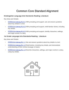 Story Map:  Characters, Setting, Problem, Solution - Common Core Aligned (Free)