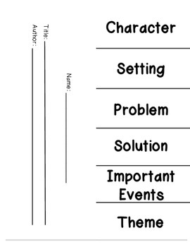Story Map Foldable (Common Core Aligned)