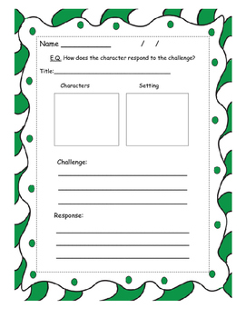 How Santa Got His Job Story Map Graphic Organizer with blank template